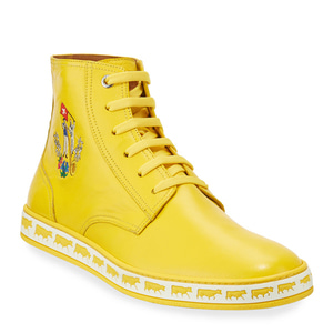 [정품] 발리 BALLY Mens Alpistar Leather High-Top Sneakers, Yellow  / 피오리토