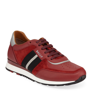 [정품] 발리 BALLY Mens Aston Leather Sneakers w/ Trainspotting Stripe  / 피오리토