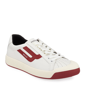 [정품] 발리 BALLY Mens New Competition Retro Low-Top Sneakers, Red/White  / 피오리토