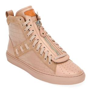 [정품] 발리 BALLY Mens Hekem Croc-Embossed Leather High-Top Sneakers  / 피오리토
