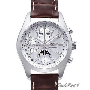 [추가비용없음] 론진 LONGINES S L2.798.4.72.3 Conquest White Dial Chronograph Automatic Mens